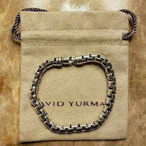 DAVID YURMAN 925Sterling Silver Box Chain Bracelet